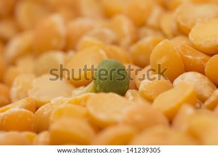 background of yellow peas. macro - stock photo