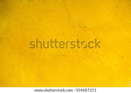 Background of yellow wall plastering, Thailand. - stock photo