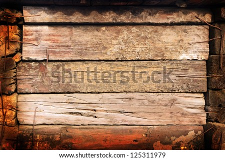 Background old boards - stock photo