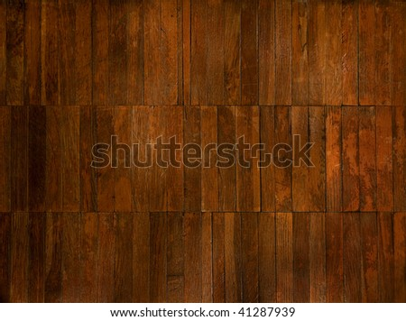 background: old parquet - stock photo