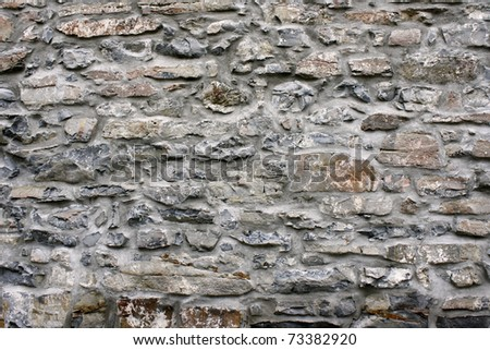 Background - Old Stone Wall - stock photo