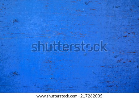 Background. Old, vintage, blue plywood. The vintage. - stock photo