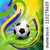 background on 2014 soccer brasil - stock photo