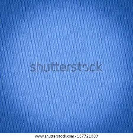 Background or texture of blue fabric closeup - stock photo
