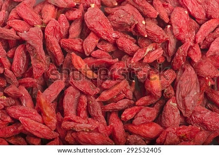 Background or texture of dried  Goji berry Group - stock photo