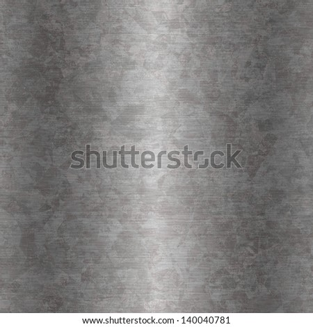 Background or texture of grunge galvanized steel plate - stock photo