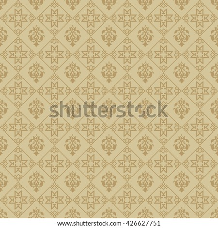 Background pattern. Asian style: Chinese, Japanese, Indian. Modern wallpaper for your design. Brown background