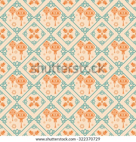 Background pattern. Asian style texture: Chinese, Japanese, Indian, Arabic. Modern wallpaper for your design. Asian ethnicity. Colorful.