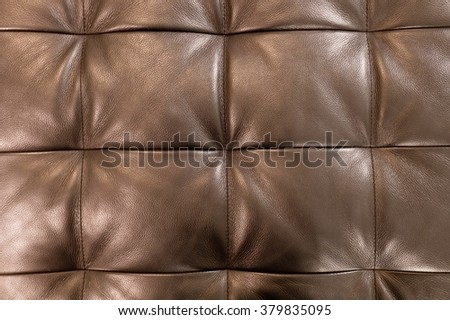 Background Pattern, Closed up of Abstract Texture of Brown Leather Sofa or Upholstery Background. - stock photo