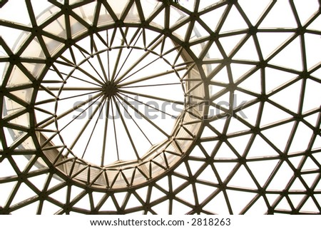 Background pattern of inside large dome structure