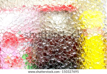 background patterned glass - stock photo