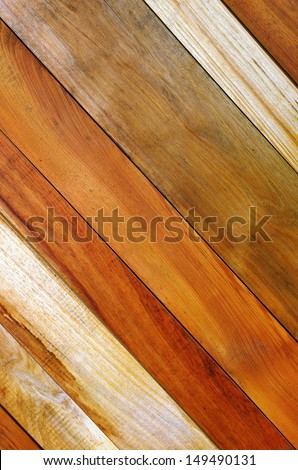Background photo of diagonal wooden planks wall  - stock photo