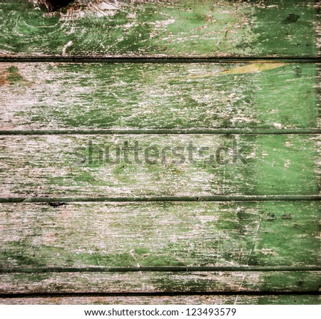 Background picture made of old green wood plank - stock photo