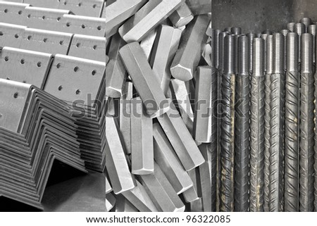 background: pile of metal details - stock photo