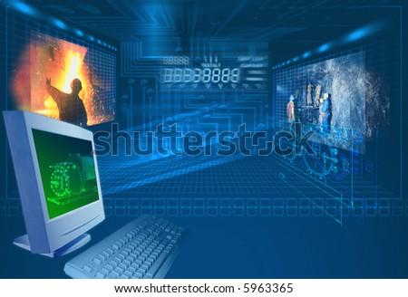 "Background ""Progressive miners"" - stock photo"