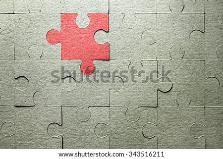 background puzzle frame - stock photo