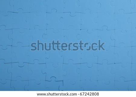 Background - Puzzle in blue - stock photo