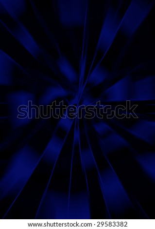 Background Radiation blue - stock photo
