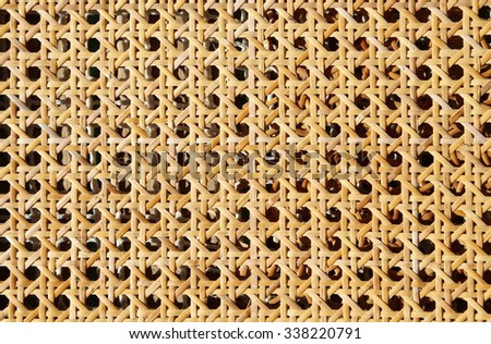 Background rattan woven by an artisan