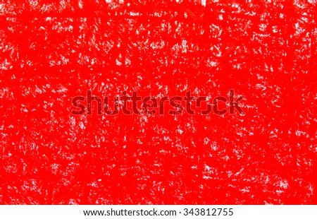 Background red crayon drawing texture - stock photo