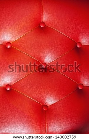 Background red sofa. - stock photo