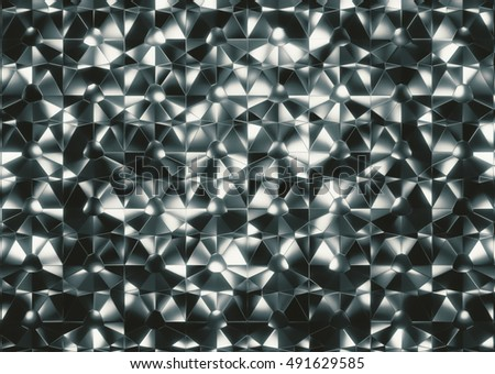 Background Reflection shine square shape 3d rendering.