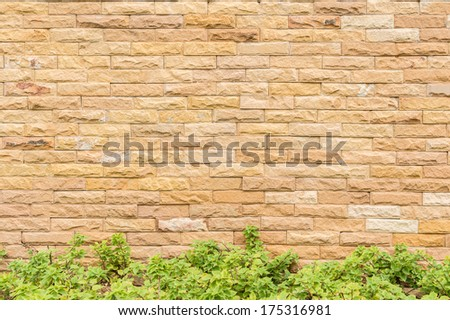 Background resolution of brick wall texture. - stock photo
