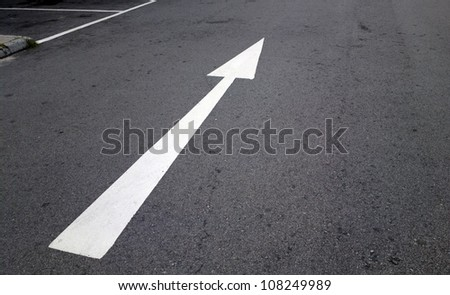 "Background resources: ""Go Forward"" North East direction pointing White arrow on black background"