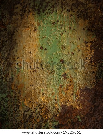 Background rusted metal wall