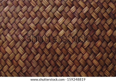 Background series : Close up of wicker pattern - stock photo
