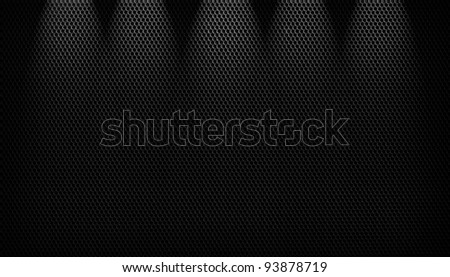 Background sheet of metal covered
