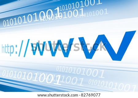 Background showing blue lines for a internet and web pages related concept - stock photo