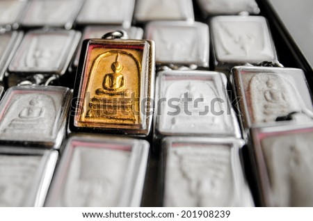 Background talismans amulets old shapes of different colors - stock photo