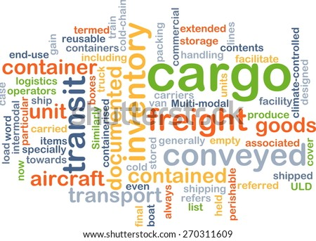 Background text pattern concept wordcloud illustration of cargo freight - stock photo