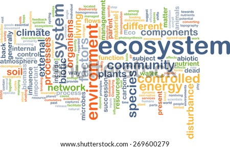 Background text pattern concept wordcloud illustration of ecosystem - stock photo