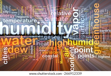 Background text pattern concept wordcloud illustration of humidity glowing light