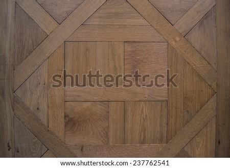 Background, texture. Antique modular flooring, a parody of oak wood. - stock photo