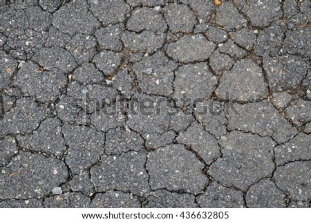 background,texture cracked of road surface