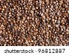 background texture from coffee beans - stock photo