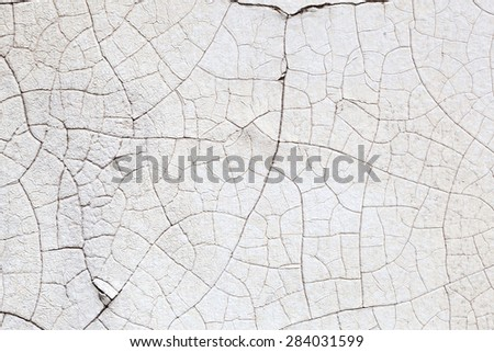 background texture from cracked wall paint  - stock photo