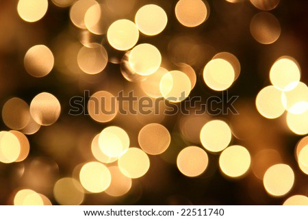 Background / texture image of close up out of focus Christmas tree lights. - stock photo