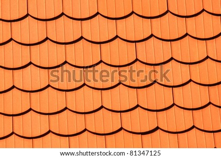Background texture of a orange tile roof