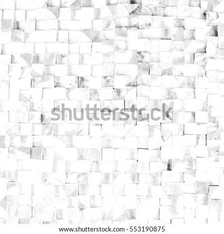background texture of a tree block cube black white