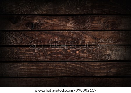 Background texture of a wooden table. dark wood texture - stock photo