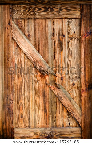 Background texture of an old wood door - stock photo