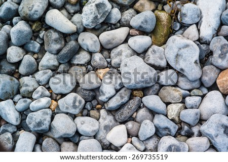 Background texture of beach rocks on  Irish beach