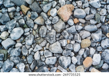 Background texture of beach rocks on  Irish beach #6