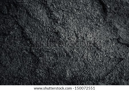 background texture of black rock - stock photo