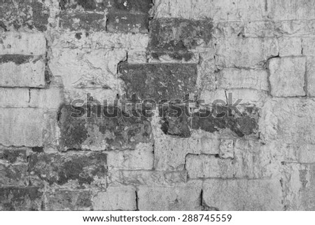 Background texture of brick wall old