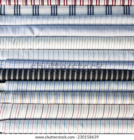 Background texture of cotton fabrics and colors. - stock photo